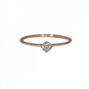 """Solitaire"" Diamond White (S) - Ring - 18 Karat Gold"