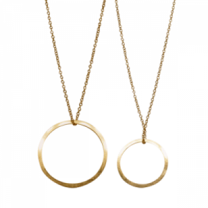 """Spot Classic"" Cosmos Saturn - Necklace - Gold"