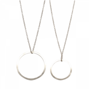"""Spot Classic"" Saturn - Necklace - Silver"