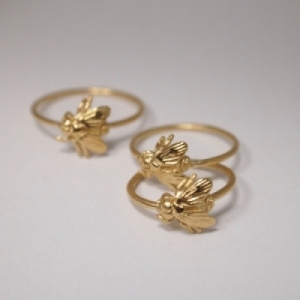 """Garden Eden"" Fly - Ring - Gold"