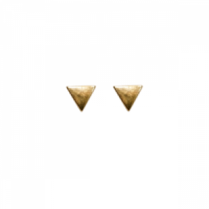 """Trinity"" Triangle - Stud Earring - Gold"