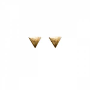 """Trinity"" Triangle - Stud Earring - Gold"