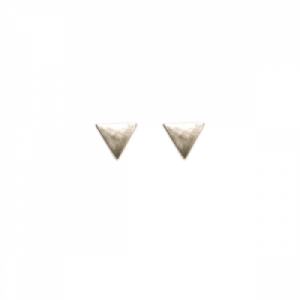 """Trinity"" Triangle - Stud Earring - Silver"