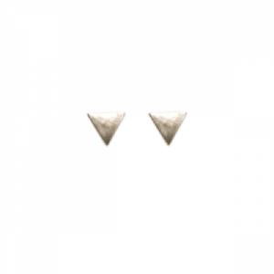 """Trinity"" Triangle - Stud Earring - Silver"