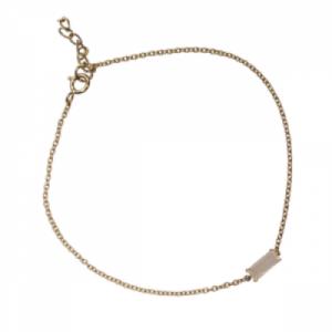 """""""Baguette"""" Paper Moonstone One - Bracelet - 18 Karat Gold"""