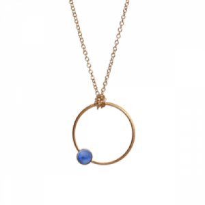 """Petit Point"" Lapislazuli - Necklace - Gold"