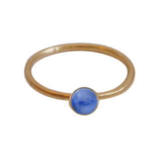 """Petit Point"" Lapislazuli - Ring - Gold"