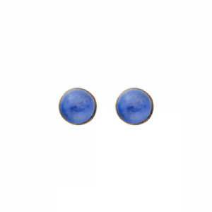 """Petit Point"" Lapislazuli - Stud Earring - Gold"