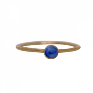 """""""Petit Point"""" Lapislazuli Petit - Ring - Gold"""