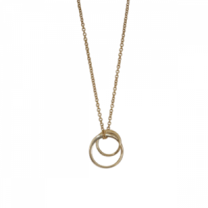 """Curvaceous"" FlatRound Double - Necklace - Gold"