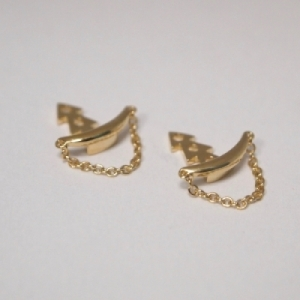 """Curvaceous"" Chain - Ear Jacket - Gold"