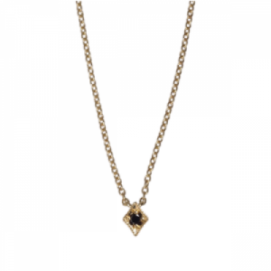 """Opalia"" Vintage Rhombus Black Diamond - Necklace - 18 Karat Gold"