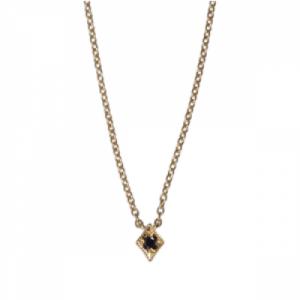 """Opalia"" Vintage Rhombus Black Diamond - Necklace - 18 Karat Gold"
