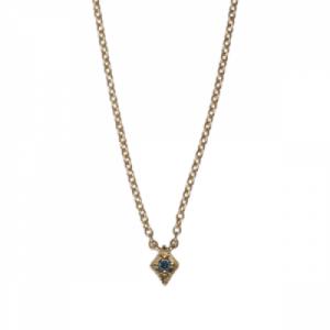 """Opalia"" Vintage Rhombus Blue Diamond - Necklace - 18 Karat Gold"