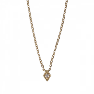 """Opalia"" Vintage Rhombus White Diamond - Necklace - 18 Karat Gold"