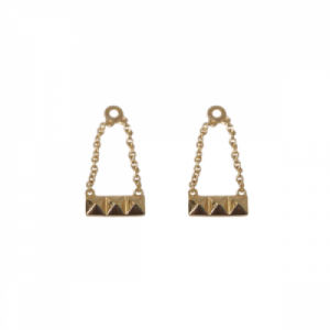 """Cleometra"" Pyramid Rivets - Earring Accessoires - Gold"