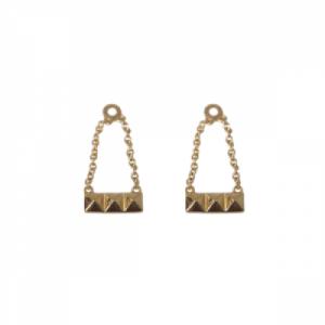 """Cleometra"" Pyramid Rivets - Earring Accessoires - Gold"
