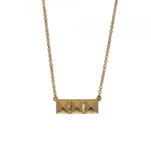 """Cleometra"" Pyramid Rivets - Necklace - Gold"