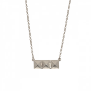 """Cleometra"" Pyramid Rivets - Necklace - Silver"