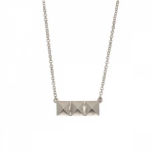 """Cleometra"" Pyramid Rivets - Necklace - Silver"
