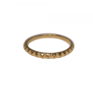 """Cleometra"" Pyramid Rivets - Ring - Gold"
