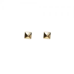 """Cleometra"" Pyramid Rivets - Stud Earring - Gold"
