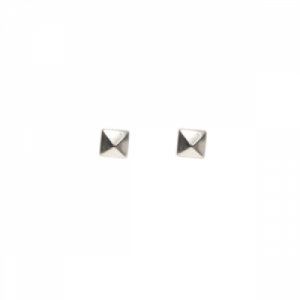 """Cleometra"" Pyramid Rivets - Stud Earring - Silver"
