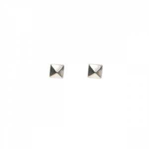 """Cleometra"" Pyramid Rivets - Stud Earring - Silver"