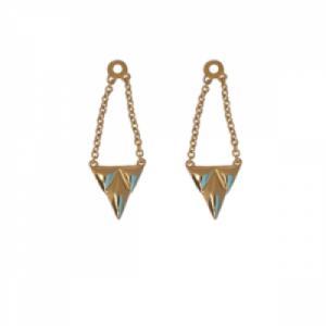 """""""Opalia"""" Shield - Earring Accessoires - Gold"""