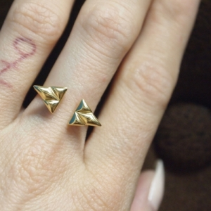 """Opalia"" Shield - Ring - Gold"