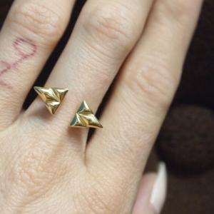 """Opalia"" Shield - Ring - Gold"