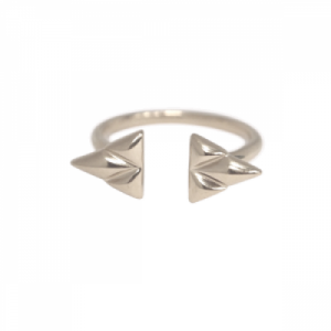 """Opalia"" Shield - Ring - Silver"