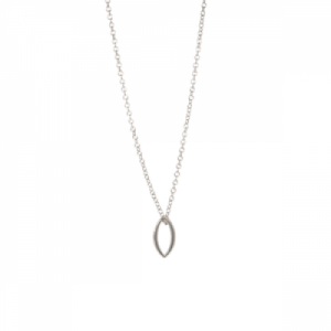 """""""Cleometra"""" Marquise - Necklace - Silver"""