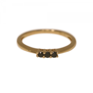 """Panthera"" Black Onyx - Ring - 18 Karat Gold"