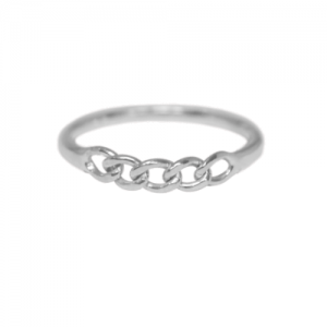 """Curb"" Classic - Ring - Silver"