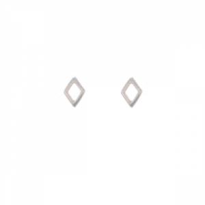 """Opalia"" Rhombus Tiny - Stud Earring - Silver"