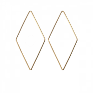 """Opalia"" Rhombus Endless - Earring - Gold"