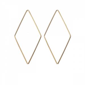 """Opalia"" Rhombus Endless - Earring - Gold"