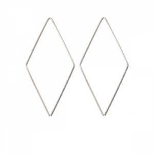"""""""Opalia"""" Rhombus Endless - Earring - Silver"""