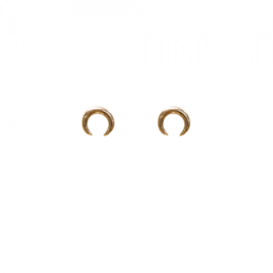 """Curvaceous"" Crescent Tusk - Stud Earring - Gold"