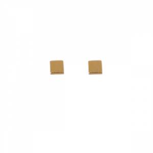 """Cleometra"" Square Flat - Stud Earring - Gold"