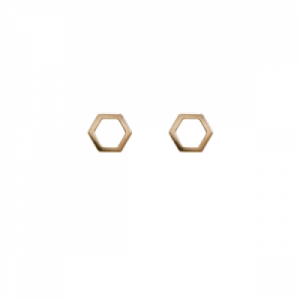 """Cleometra"" Hexagon - Stud Earring - Gold"
