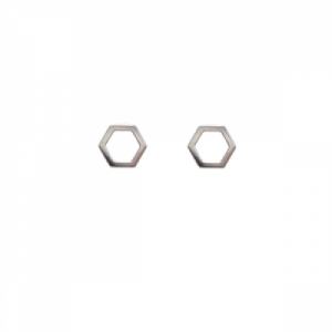 """Cleometra"" Hexagon - Stud Earring - Silver"