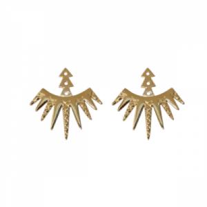 """Cleometra"" Sun - Ear Jackets - Gold"