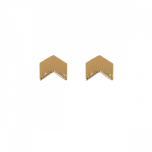 """Trinity"" Arrow - Stud Earring - Gold"