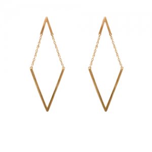 """Trinity"" V Moving - Stud Earring - Gold"