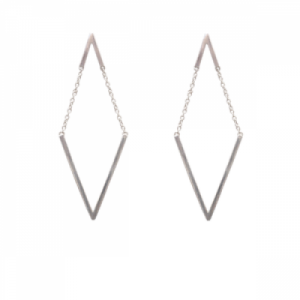 """Trinity"" V Moving - Stud Earring - Silver"