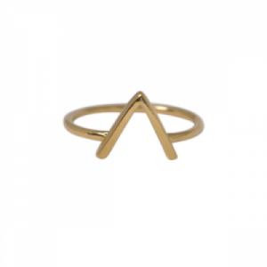 """Trinity"" V Bar - Ring - Gold"