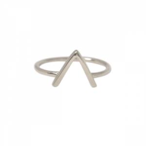 """Trinity"" V Bar - Ring - Silver"