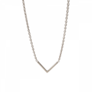 """Trinity"" V - Necklace - Silver"